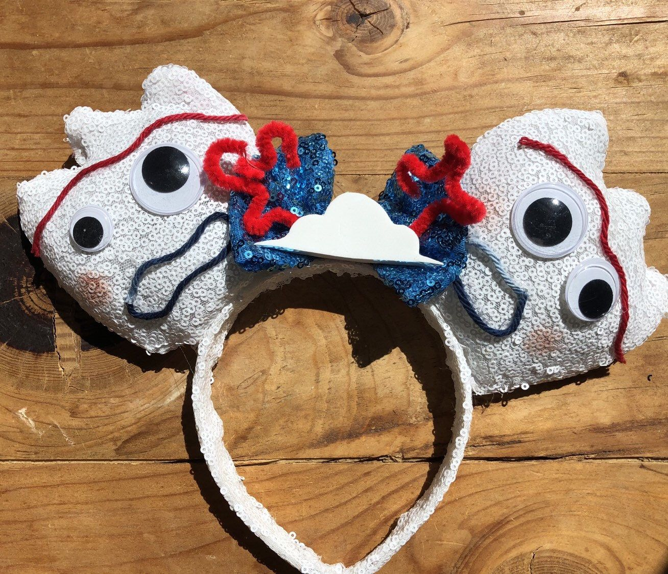 One Forky hair clip, toy story 4 hair clip, spork ears