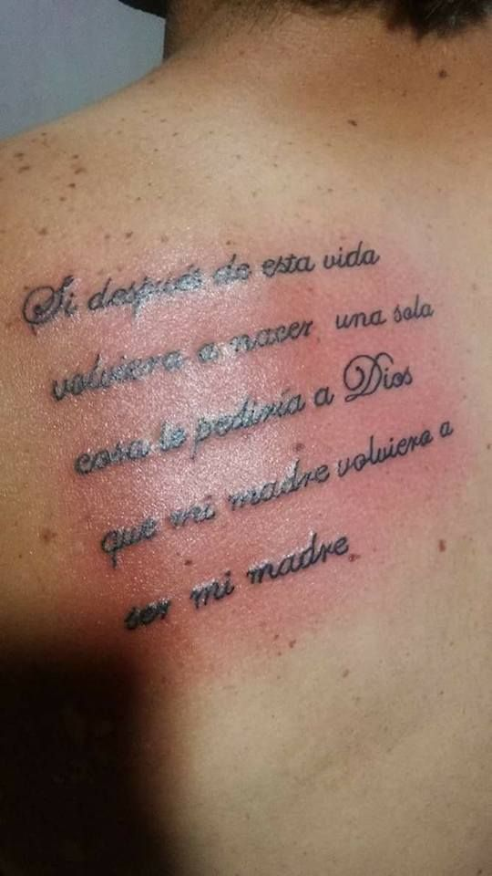 Tatuaje De Frase Para La Madre De Manga Pinterest Tatuajes