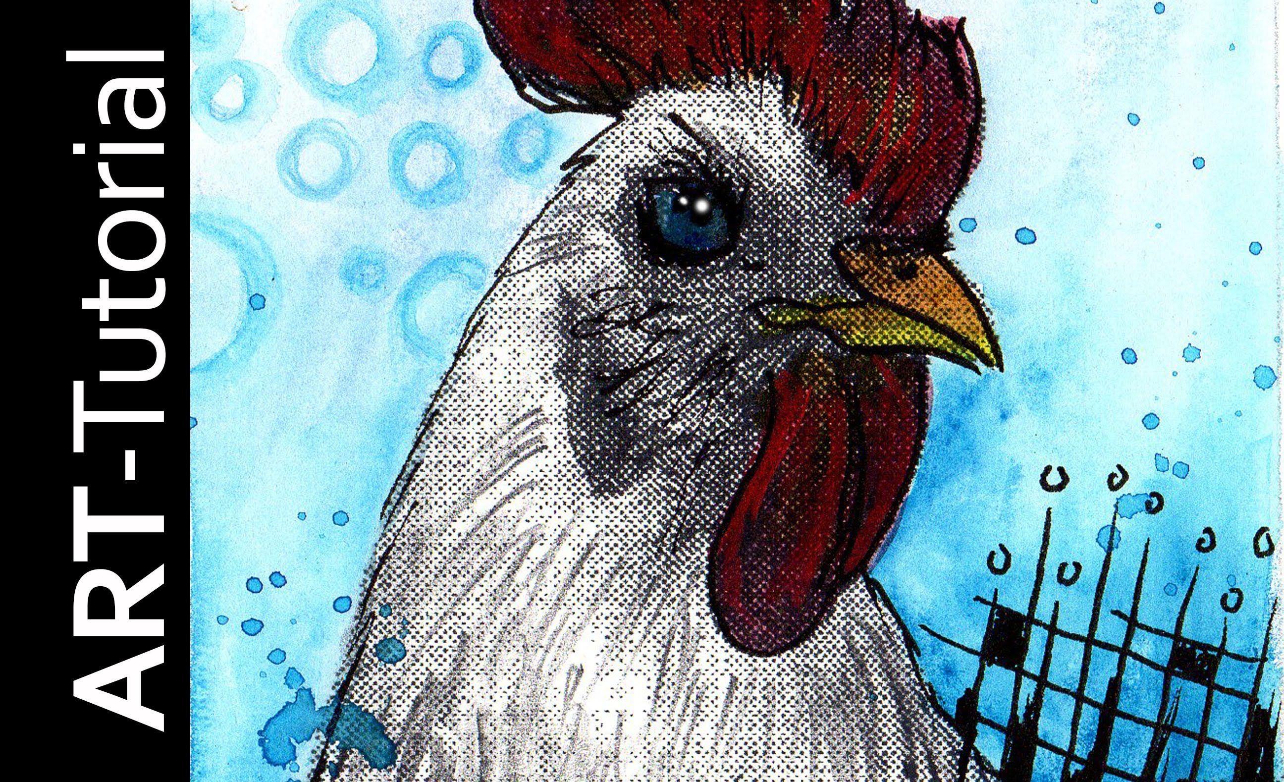 Malen Mit Isabelle Ubung 1 Mit Aquarellstiften Und Halbtonraster