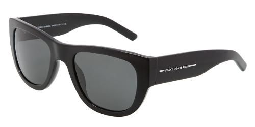 Dolce & Gabbana Eyewear: model 4127 -  Men Sunglasses Collection. Square with Black Frame and Gray Lens.