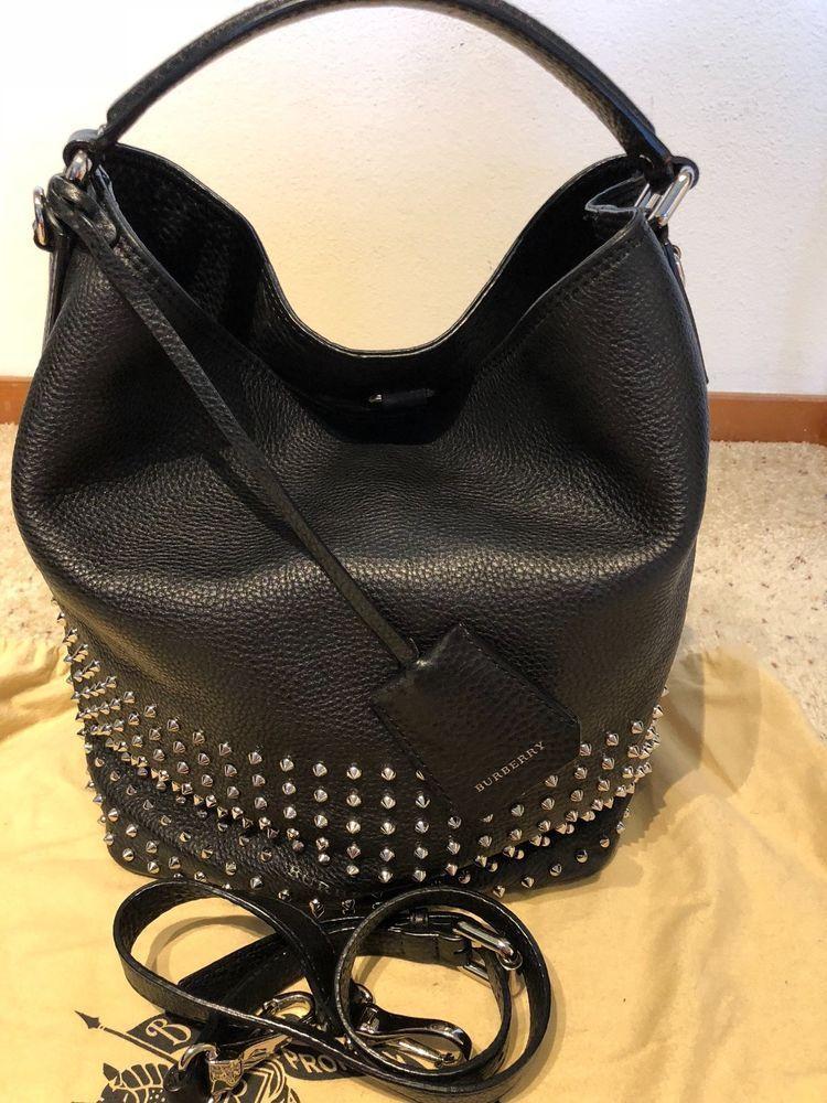 470ae7ee6784 Burberry Hobo Handbag Leather Medium Crossbody 100% Authentic   LeatherHandbagsAndPurses  HandbagsHandmade