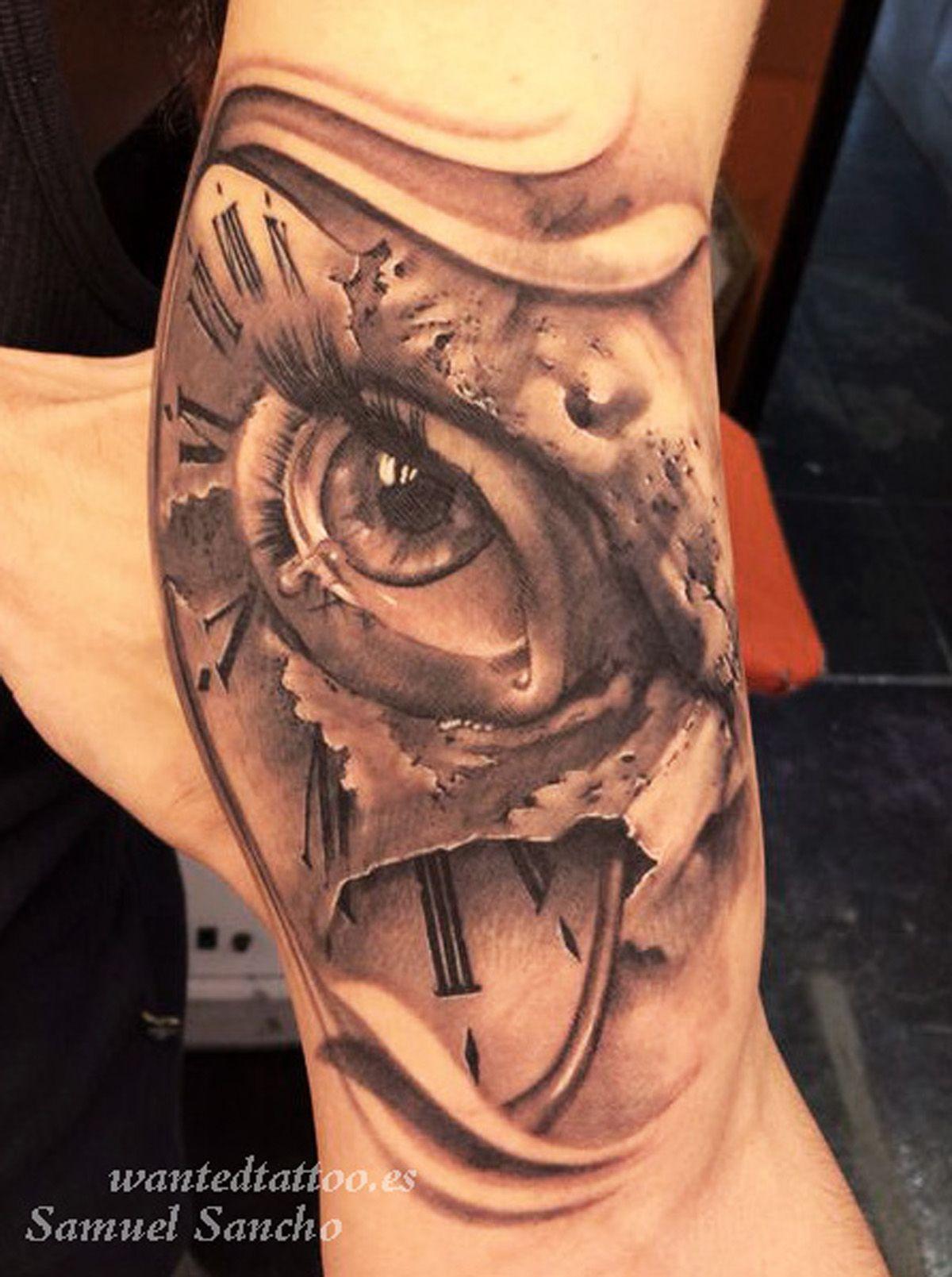 montre a gousset rose tatouage