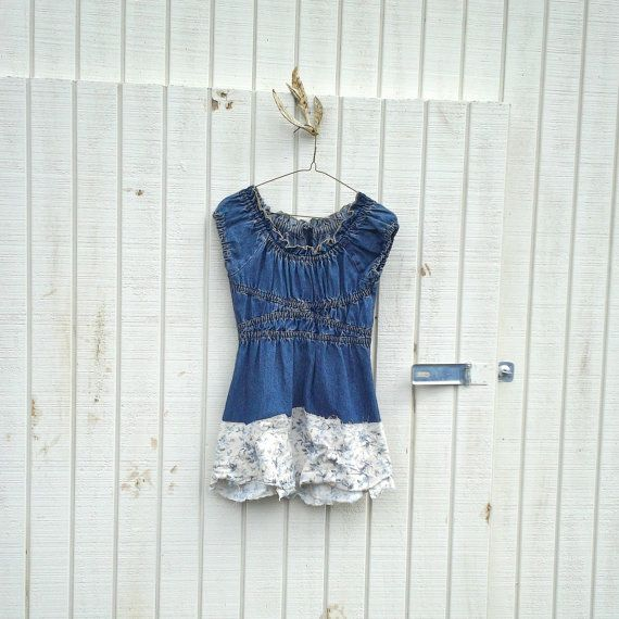 funky denim / blue jean eco dress / upcycled clothing by CreoleSha, $64.99
