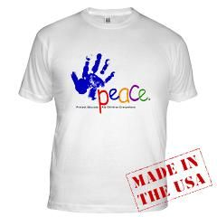 The Peace Fund Merchandise.Buy this Peace Fund T-shirt today and help a child to a better life.    www.cafepress.com/peacefund  www.thepeacefund.org