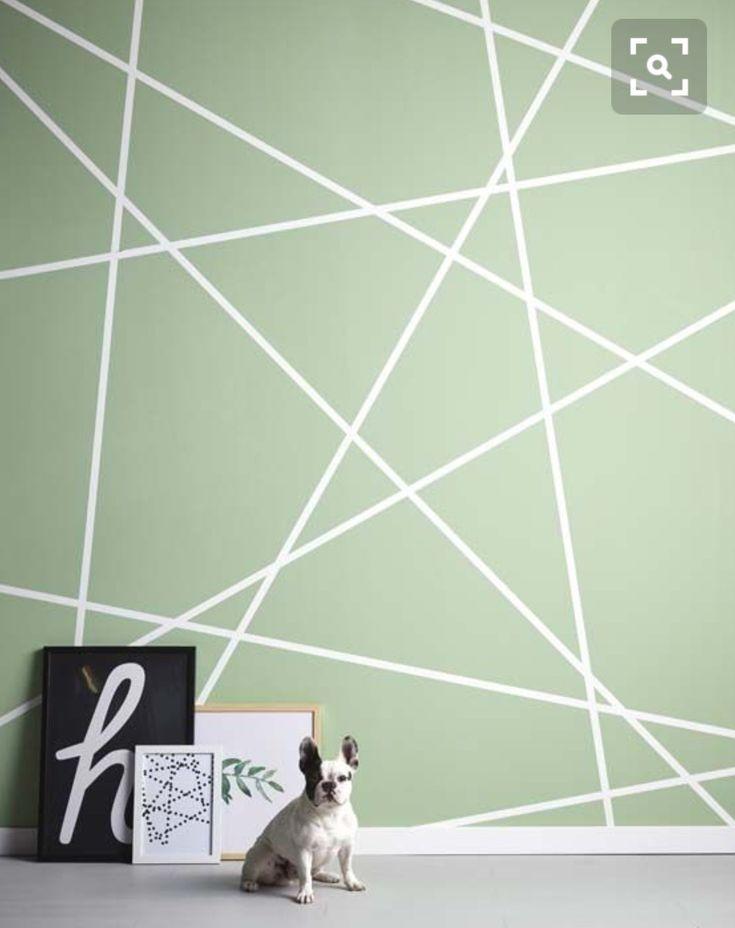 Geometrische Muster Wand