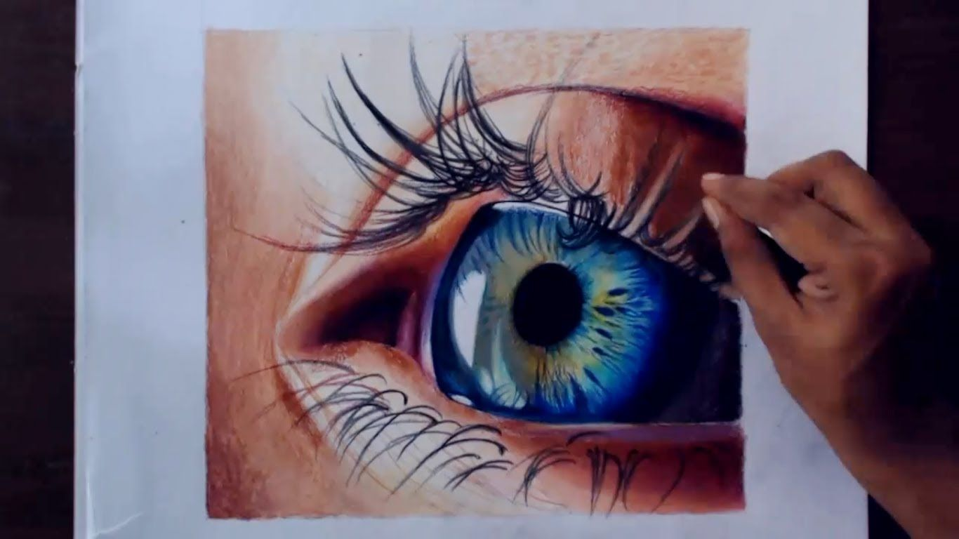 wow an amazingly realistic eye drawing a realistic eye using