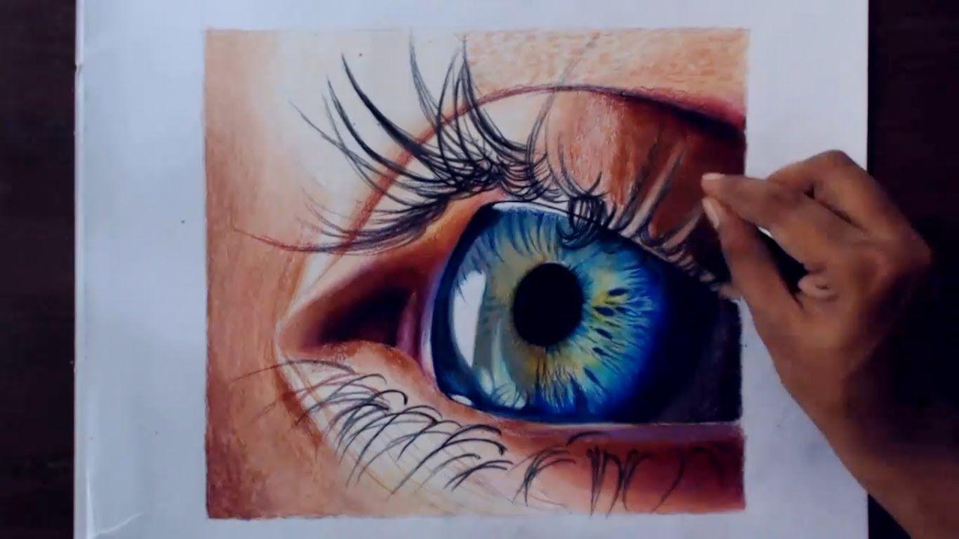 Dessiner Un œil Realiste Aux Crayons De Couleur Yeux Dessin