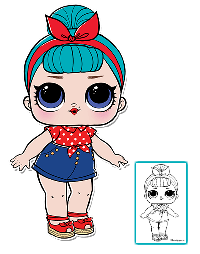 LOL Surprise Doll Coloring Pages Page 8 Color your