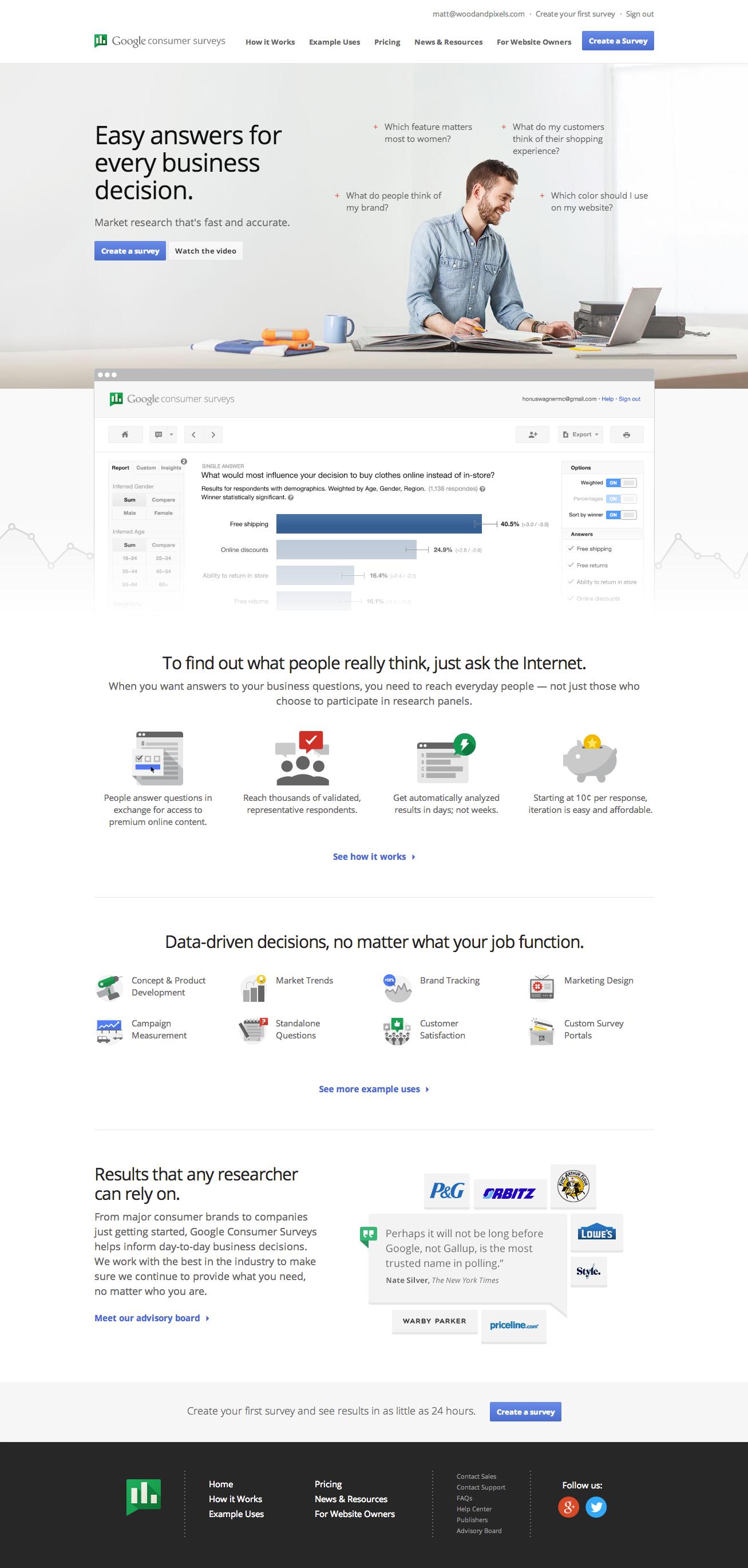 Google Consumer Surveys Consumer Insights Consumer Survey Surveys