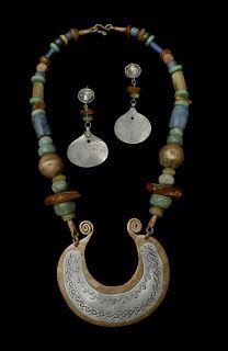 b46c716b1 Necklace & Earrings.   Plata Nativa Designs.