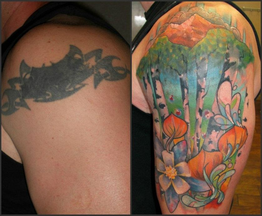 Cover Up Tattoo Before And After Design Cover Up Tattoos