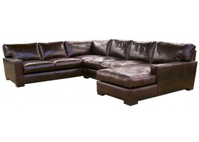 Napa Maxwell Oversized Seating Leather Sectional Leather Sectional Leather Couch Leather Furniture