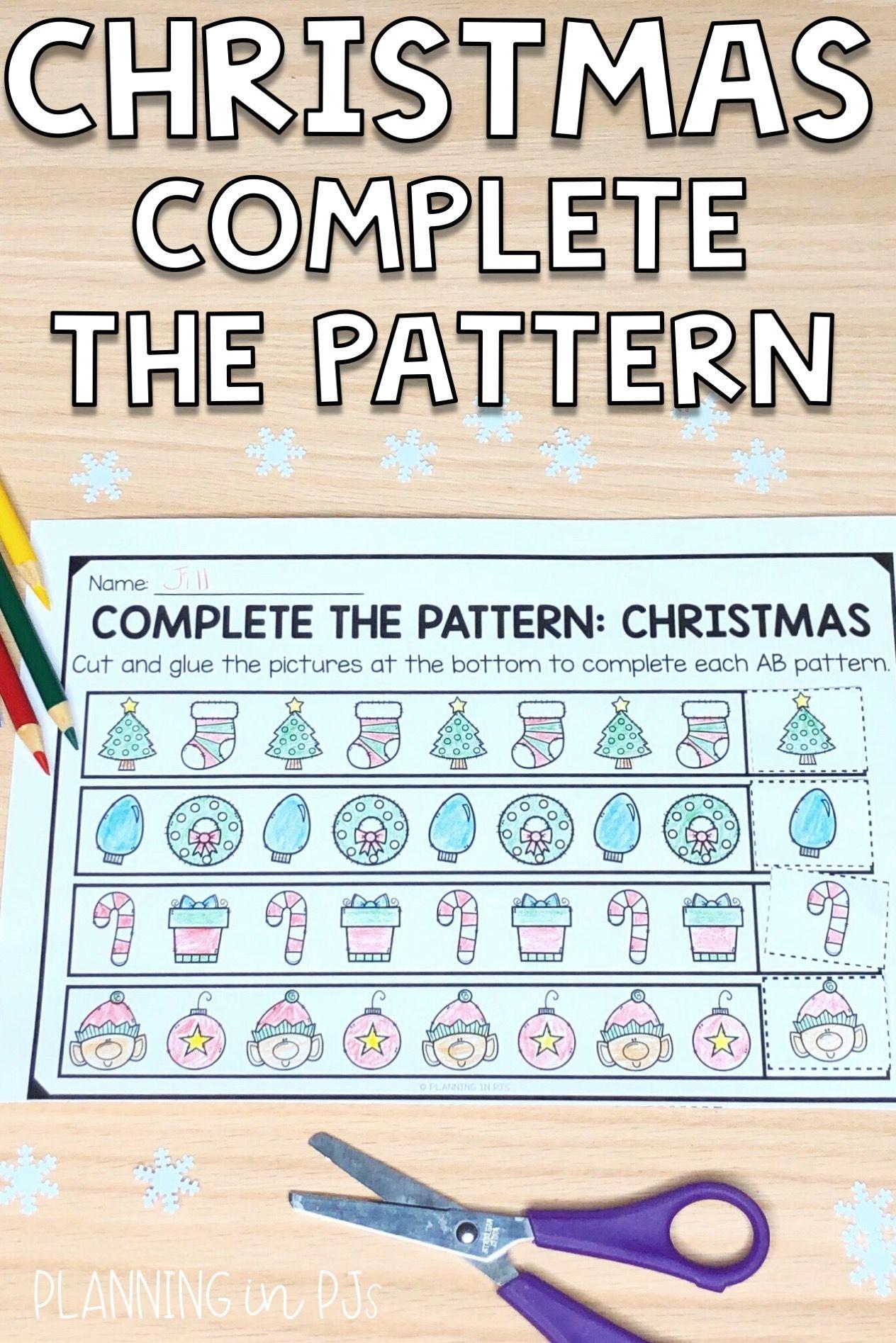 Pin On Patterns In Kindergarten