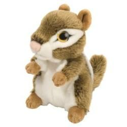 """Chipmunk Wild Watcher - 7"""" by Wild Republic - 10240  I can see you! This cute little woodland critter is strangley realistic. Its eyes appear to follow you wherever you go. Their large eyes are made to appear that they are looking at you at any angle. This Chipmunk Wild Watcher is a perfect companion and lookout for your little ones! This nutty chipmunk is covered in soft tan and white plush fabric. Measures 7 inches."""