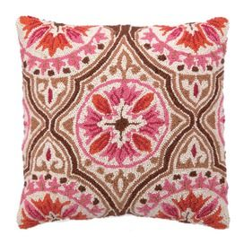 The Pillow Collection Fleur Floral Throw Pillow Cover Bourdeaux