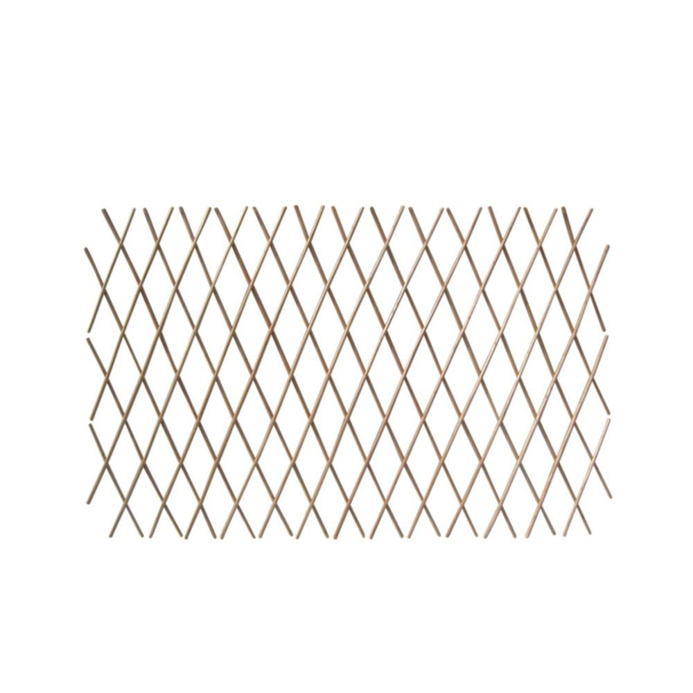Mgp 24 In H X 72 In W Expandable Peeled Willow Trellis Fence 2 Pack Wcff 24 2 The Home Depot Trellis Fence Expanding Trellis Trellis