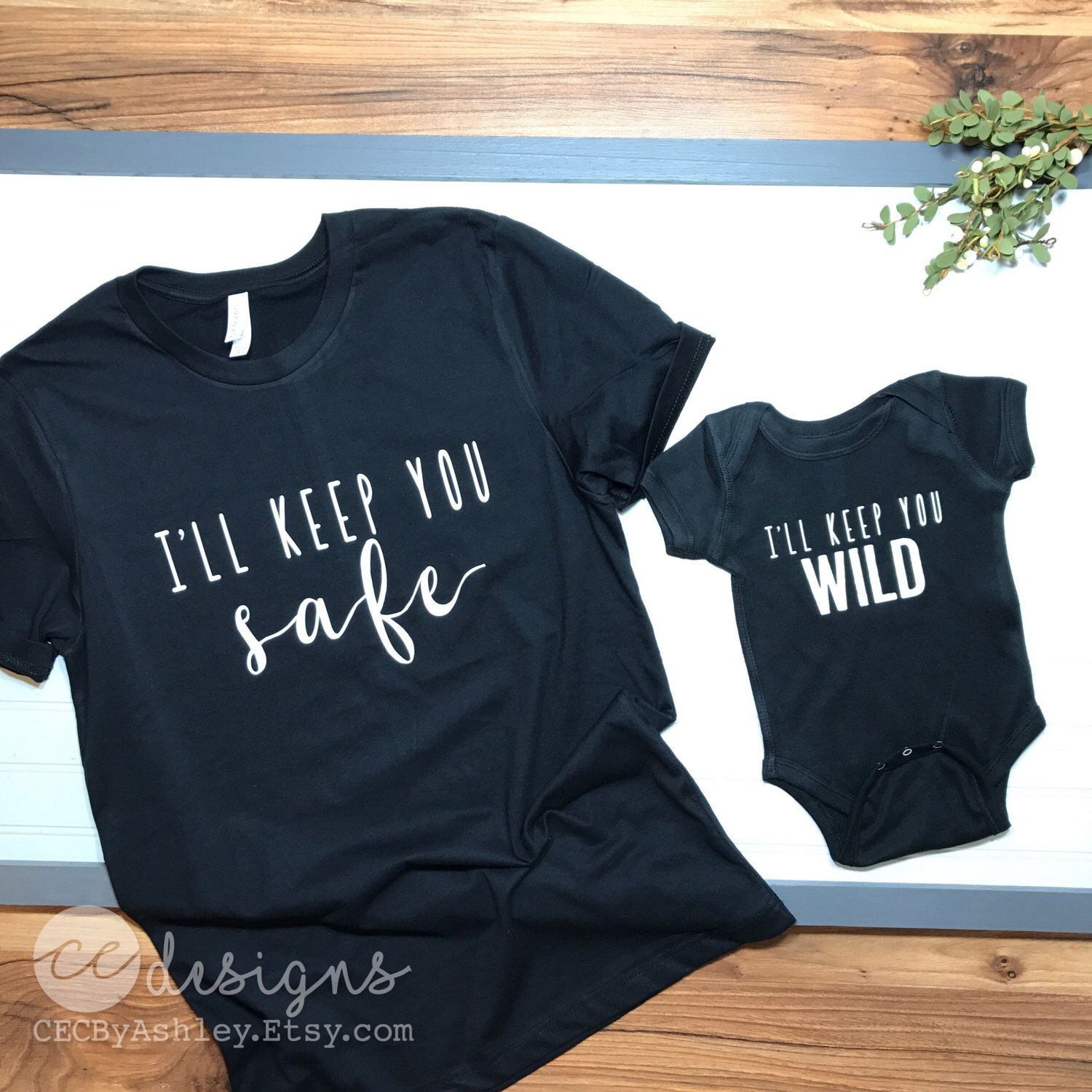 A personal favorite from my Etsy shop https://www.etsy.com/listing/479518674/mommy-and-me-mom-and-son-shirt-set-of-2