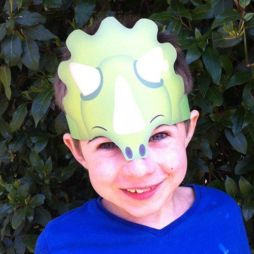 Dinosaur Party Hats  Printable Template Available  Dinosaur