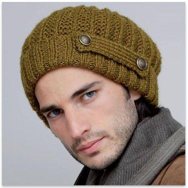 modèle à tricoter gratuit Bonnet Homme Laine Katia Mont blanc