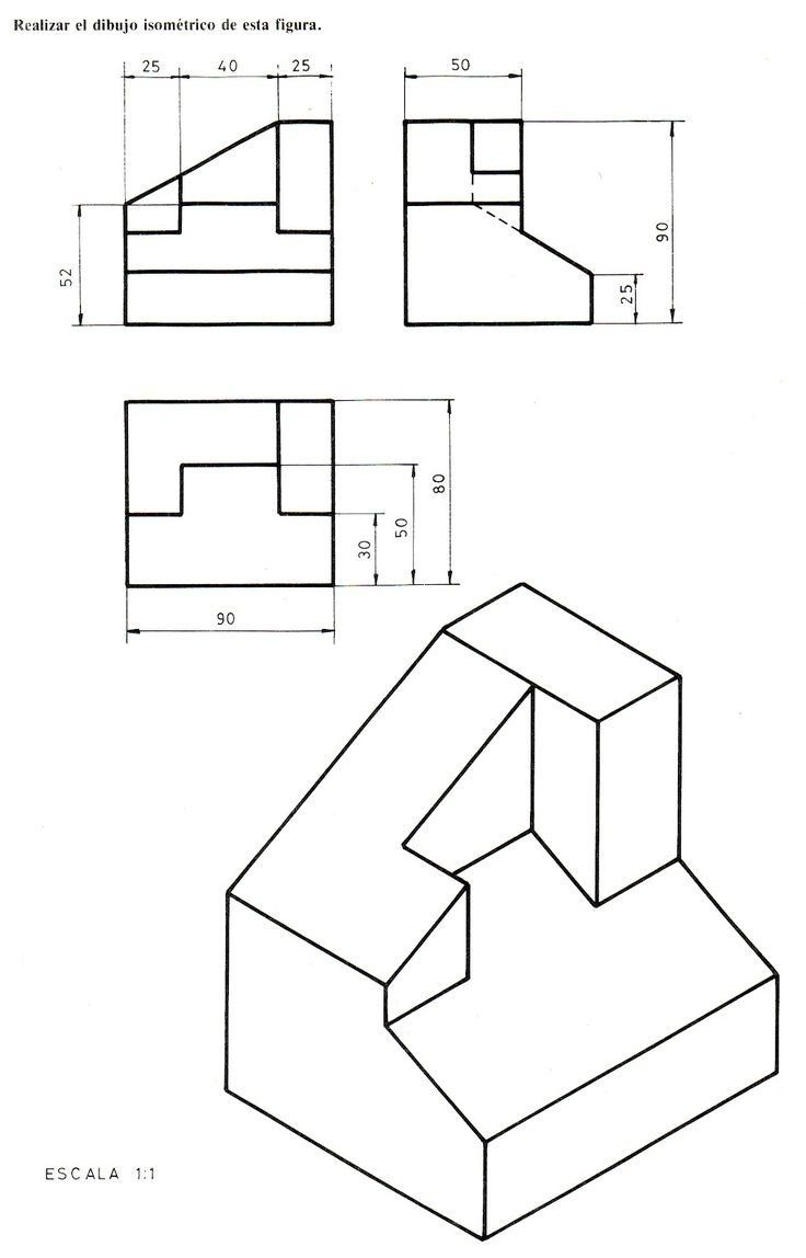 Pin by miki on Technical drawings | Pinterest | Isometric drawing ...