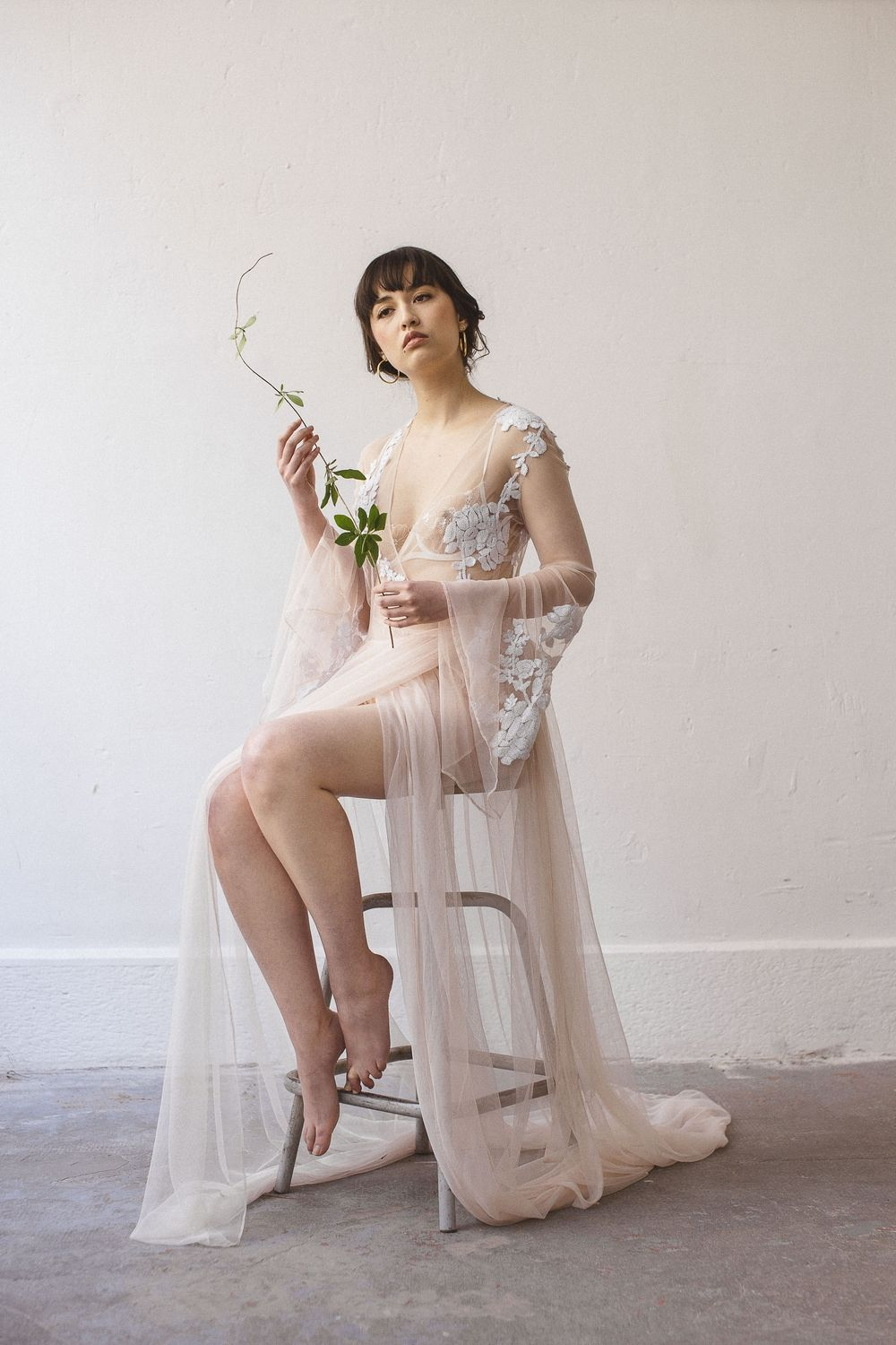 279728d0d4e80 The Lace Atelier boudoir kimono lingerie for our Japanese Inspired Bridal  Shoot. Photo   La Femme Gribouillage
