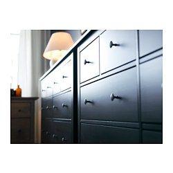 IKEA - HEMNES, Kommode mit 8 Schubladen, schwarzbraun, , Leichtgängige Schubladen mit Ausziehsperre.Aus Massivholz, einem strapazierfähigen, lebendigen Naturmaterial.Für perfekte Nutzung des Innenraums eignet sich SKUBB Aufbewahrung, 6er-Set.