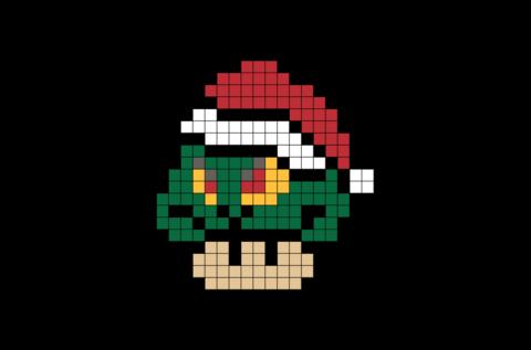 Mario Mushroom The Grinch Pixel Art Pixel Art Pixel Art Pattern Pixel Art Grid