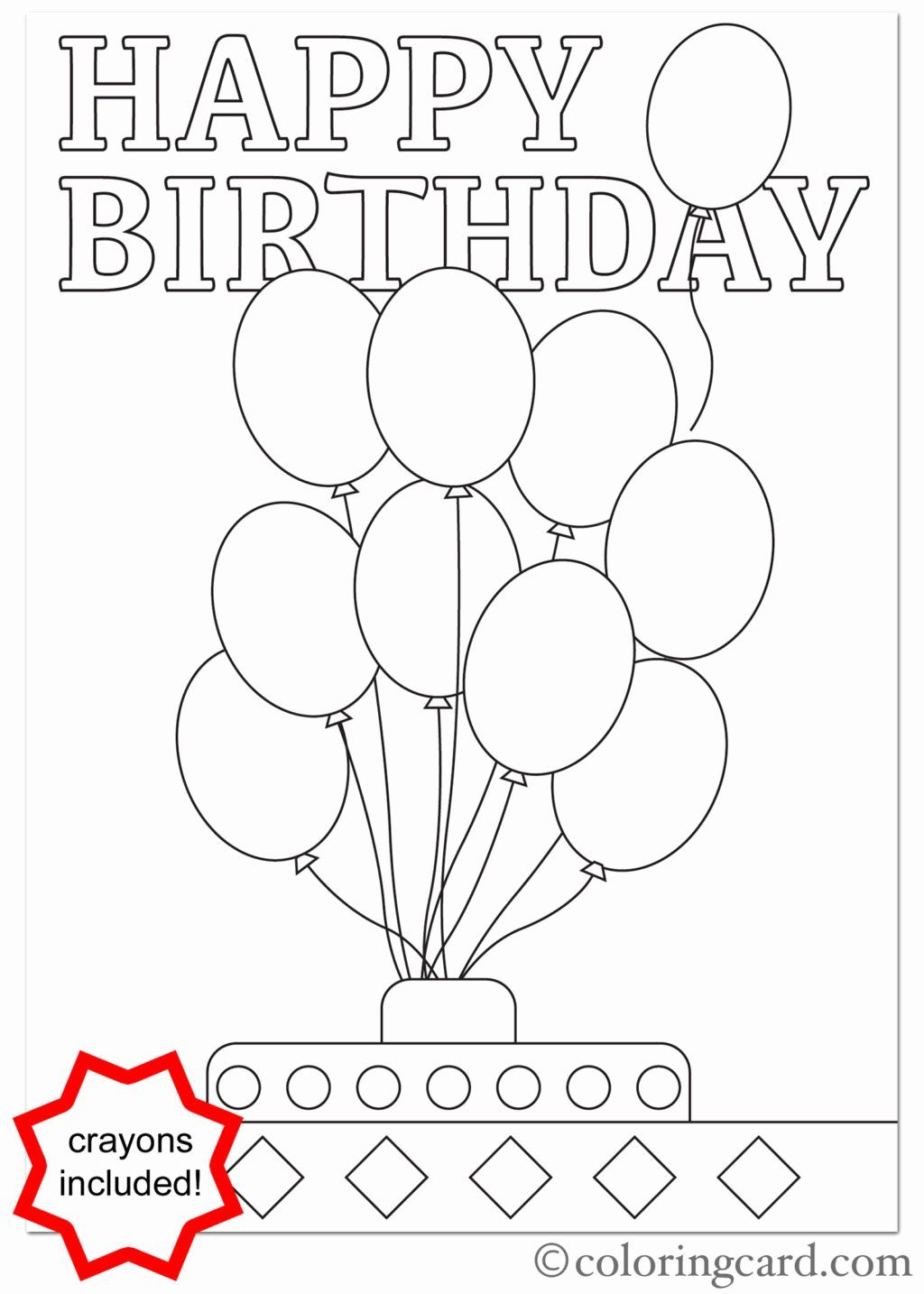 Happy Birthday Coloring Books New Coloring Books Happy ...