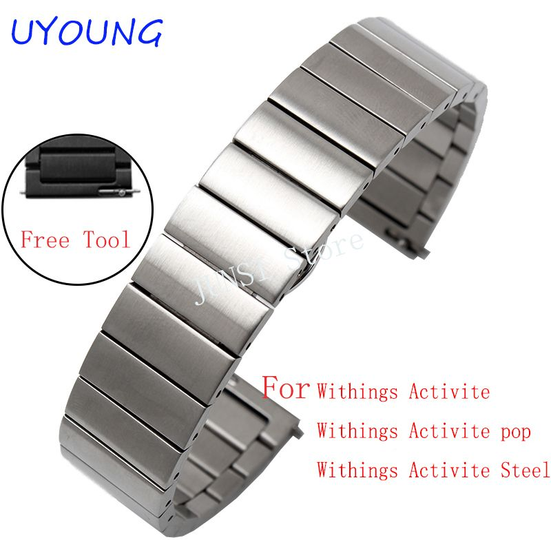 5890334e2f5 Watch bands ·    Click to Buy    18mm Solid stainless steel Watchband for  withings Activice