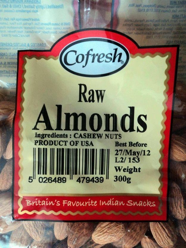 Ingredients: Cashews??