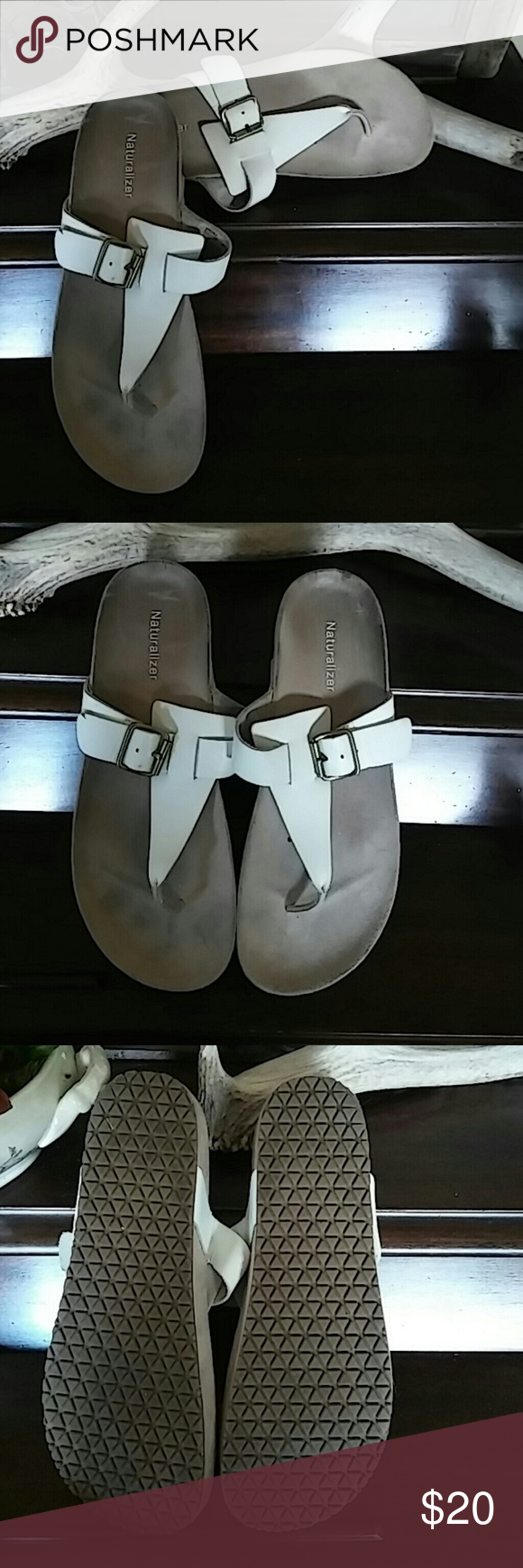 Nauralizer white sandals Excellent condition size 9 white Naturalizer sandals. Smoke free home. Worn maybe one time. Naturalizer Shoes Sandals