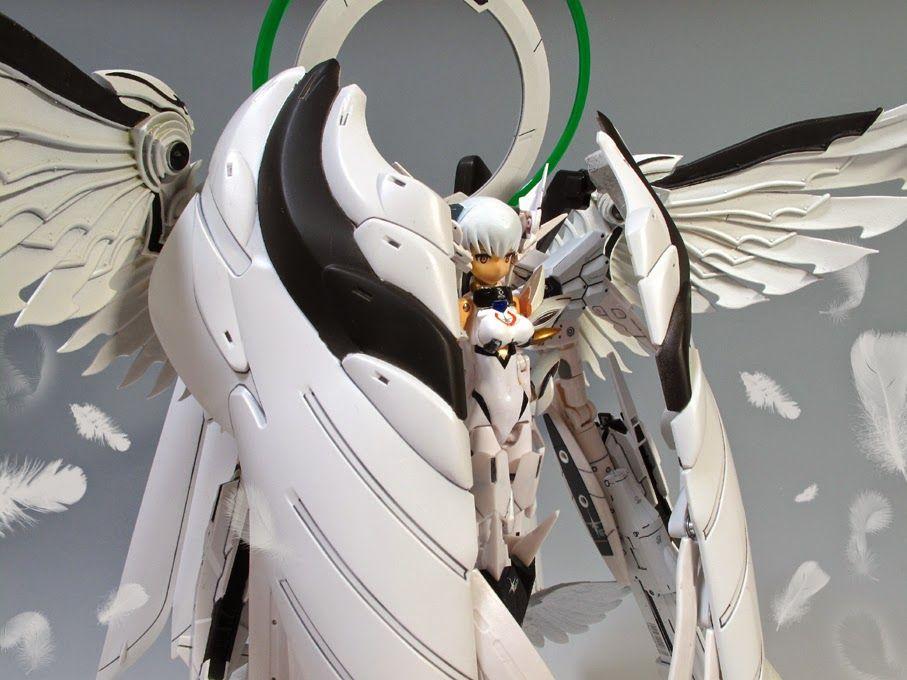 MODELER: Horta   MODEL TITLE: Busou Shinki x Gundam Efflorescence Ryoran   MODIFICATION TYPE:  kit bash, customized color scheme   KITS USE...