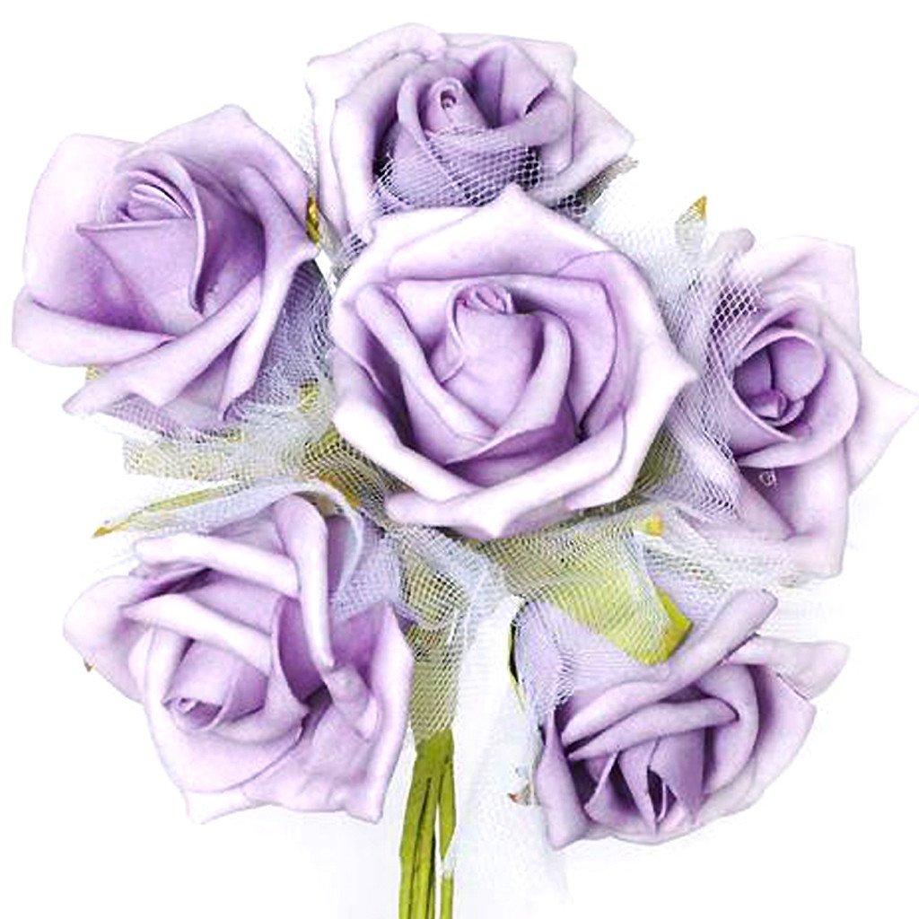 72 X 72 Lavender Satin Mini Rosette Square Table Overlay Silk Flower Petals Silk Flowers Wholesale Silk Roses