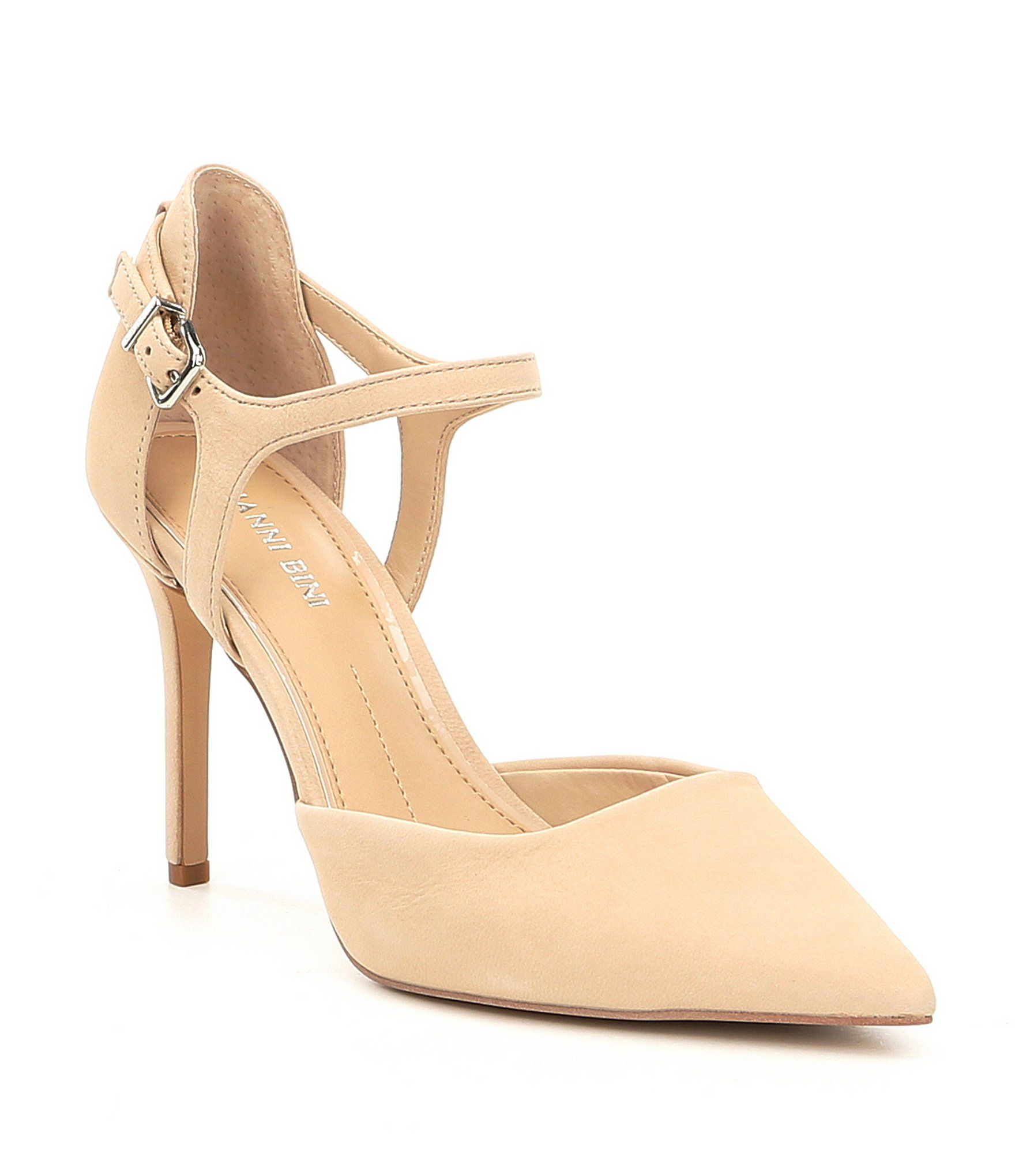 Andresa Elko Nubuck Pointy Toe Pumps 70MaN
