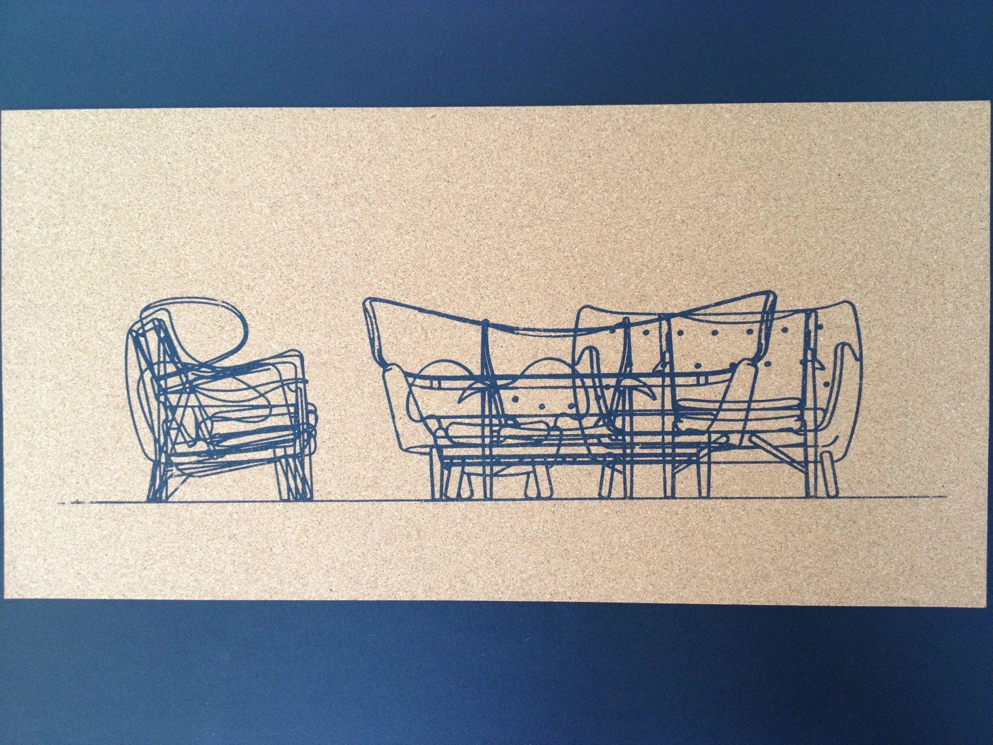 Møbler på kork