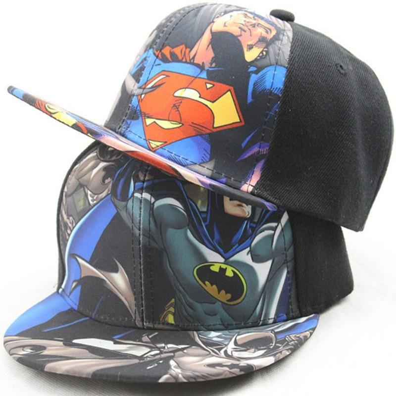 Kids Boys Girl Superhero Superman Batman Baseball Cap Hip-Hop Snapback Sun Hat