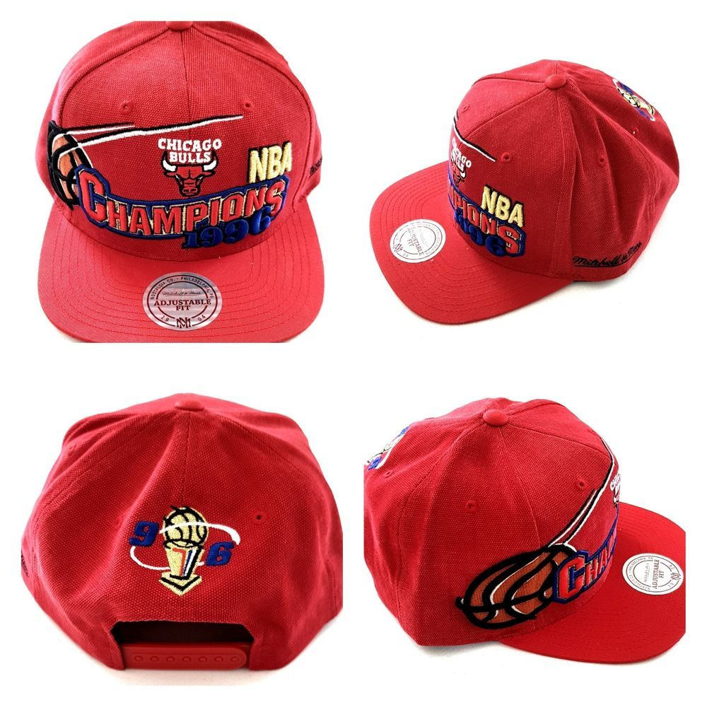 dd42798c76d NBA Chicago Bulls 1996 Champions Mitchell and Ness Snapback Hat Cap VINTAGE  M N  MitchellAndNess  ChicagoBulls  Jordan  Caps  Hats  Vintage  Clothing  ...