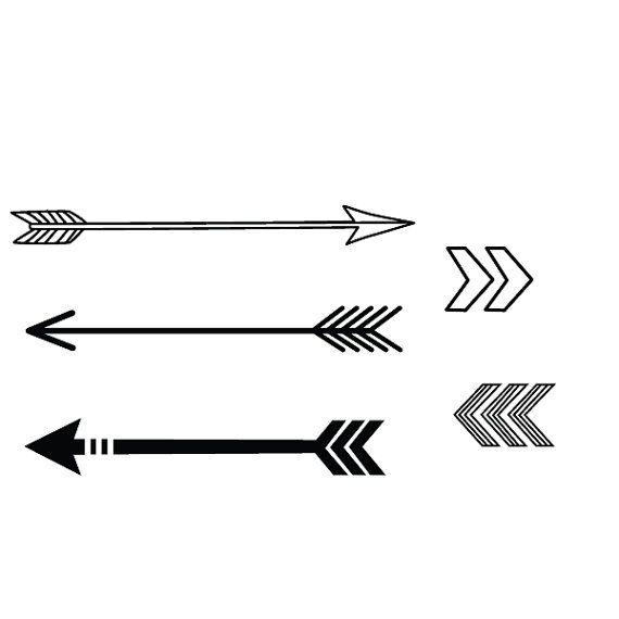 Small arrows temporary tattoo set by stayathomegypsyshop ...