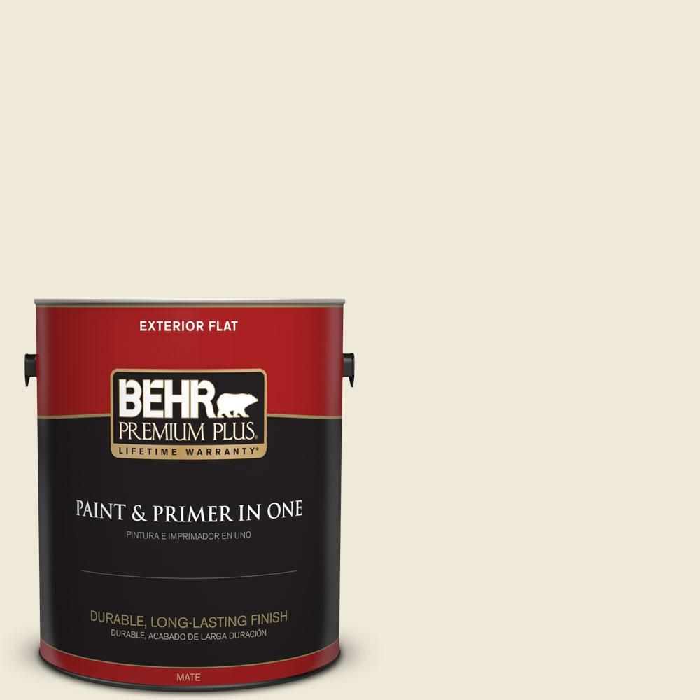 BEHR Premium Plus 1-gal. #GR-W13 Polished Marble Flat Exterior Paint