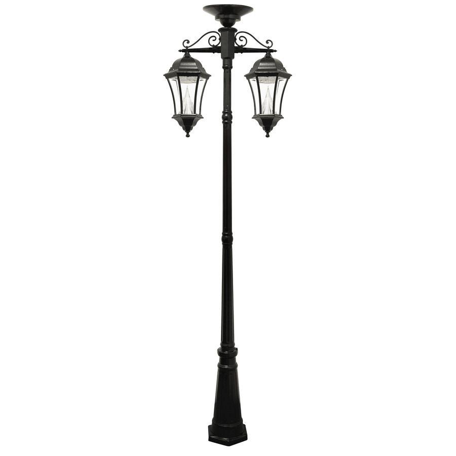 Gama Sonic Victorian 93 In H Black Solar Led Post Light Gs 94c D In 2020 Solar Lamp Post Lamp Post Lights Post Lights