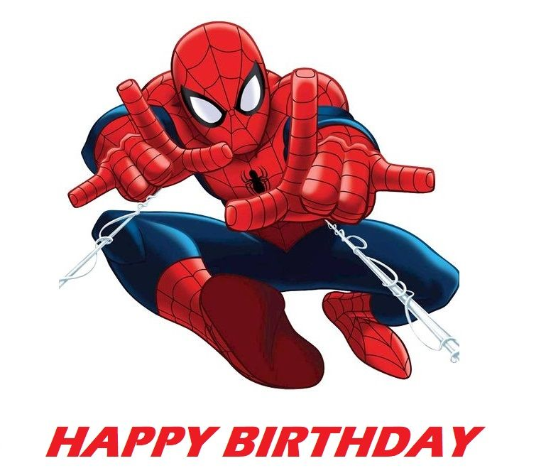Spiderman Edible Cake Topper Image Edible cake toppers