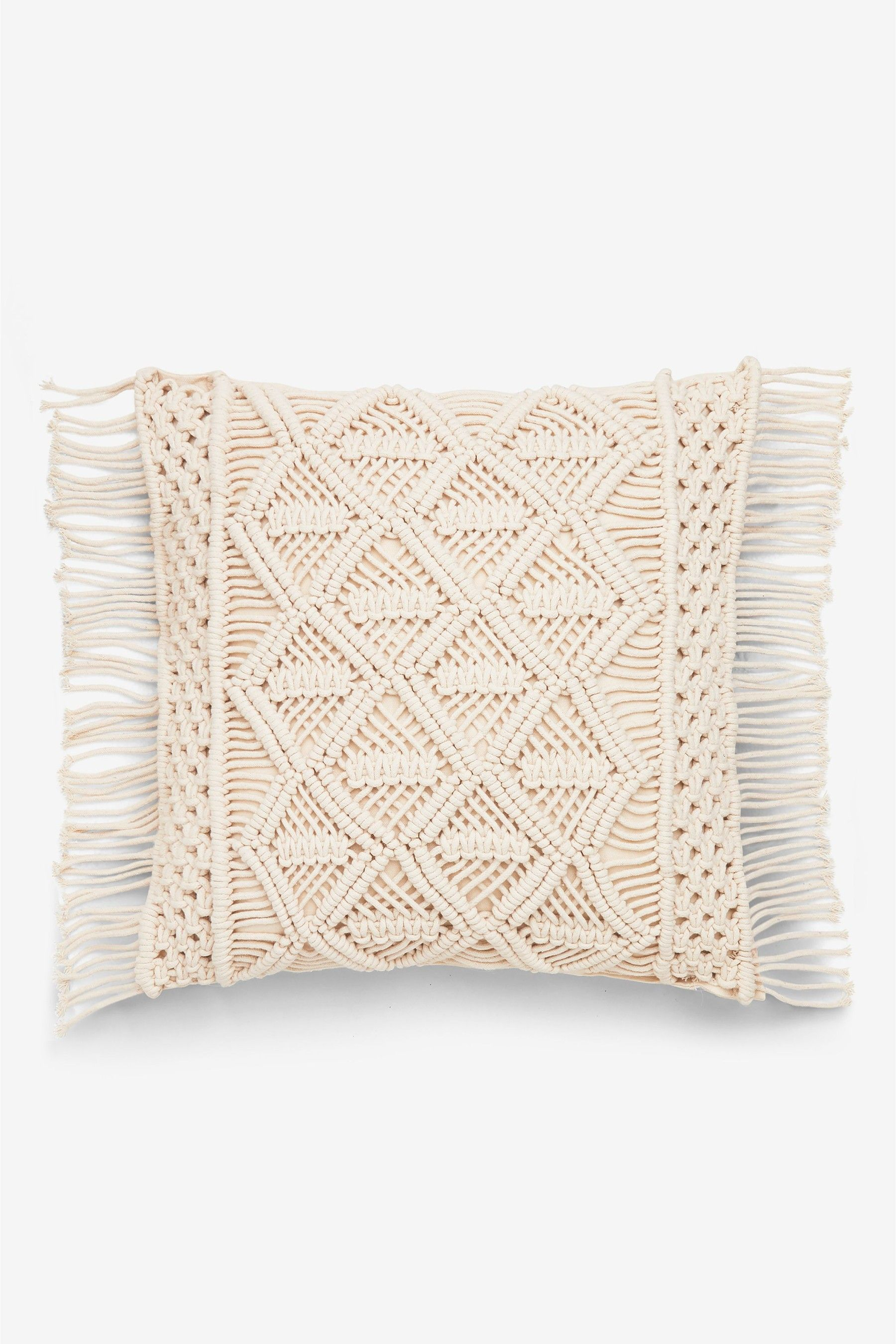 Buy Macramé Tassel Cushion from the Next UK online shop in