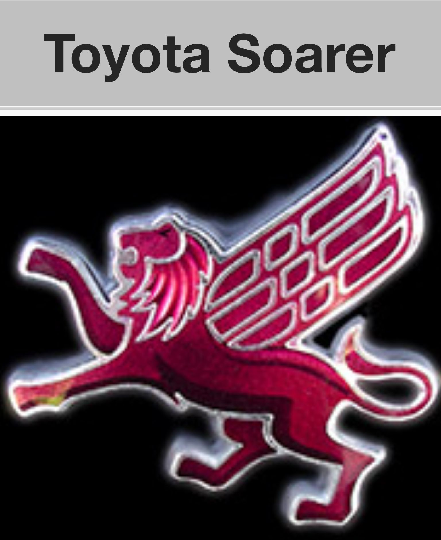 Toyota soarer these cars use a winged lion as their emblem not a toyota soarer these cars use a winged lion as their emblem not a toyota emblem biocorpaavc