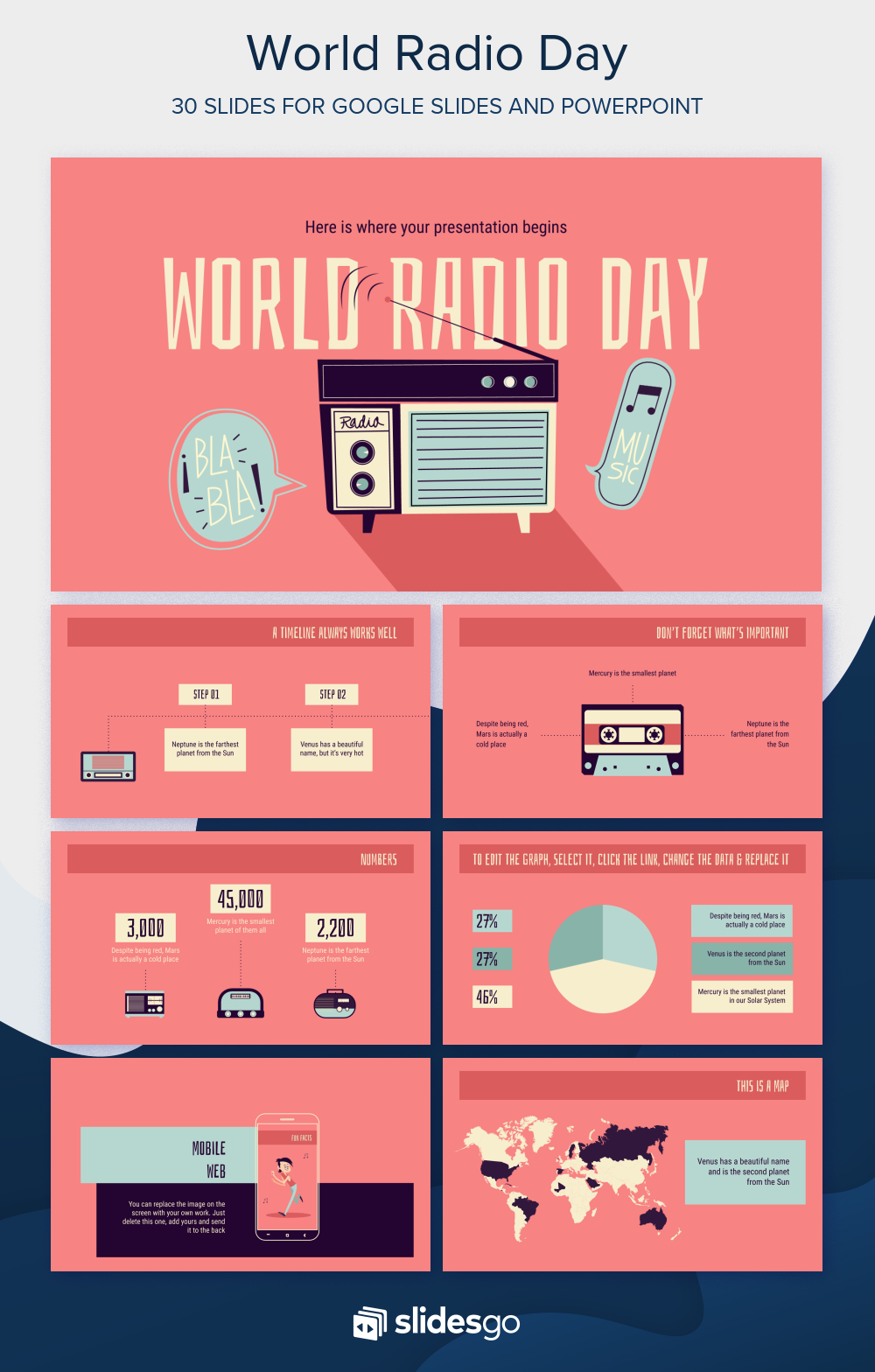 World Radio Day Presentation Free Google Slides Theme And Powerpoint Template In 2020 With Images