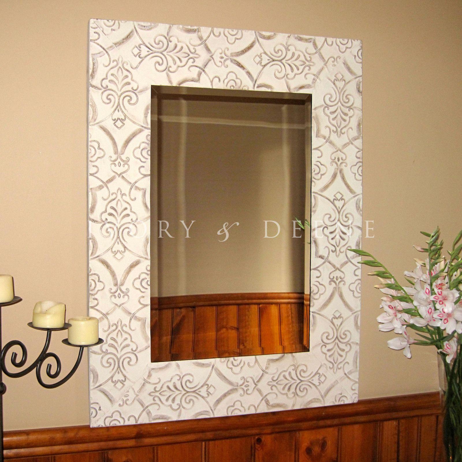 Window mirror decor  shabby french provincial rectangular mirror  design ideas
