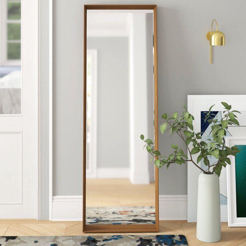 Contemporary Floor Full Length Mirror, Inca Contemporary Full Length Leaner Mirror Black
