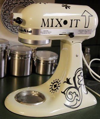 I used a Cricut and some vinyl to alter my Kitchenaid mixer ...