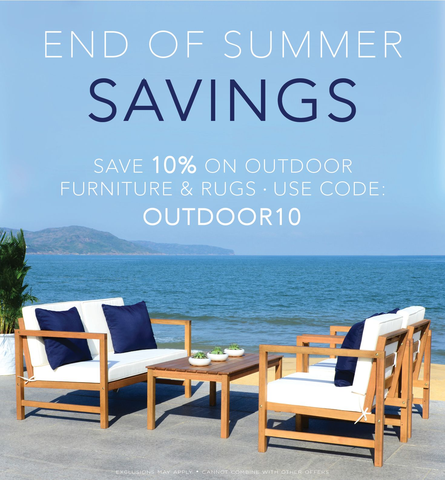 ⛱ 🌺 end of summer sale! 🌺⛱ save 10% on outdoor furniture