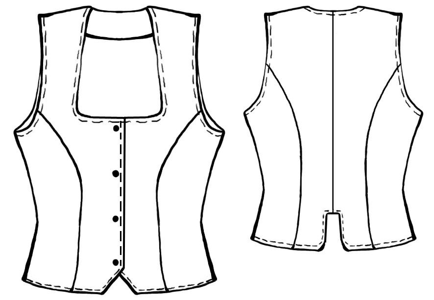 Classic Short Waistcoat - Sewing Pattern #5017 Made-to-measure ...
