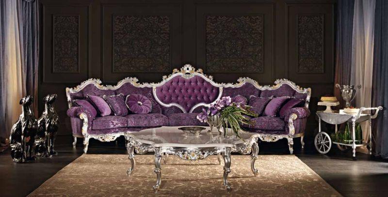 Arredamento Barocco ~ Divano stile barocco velluto viola divani velluto